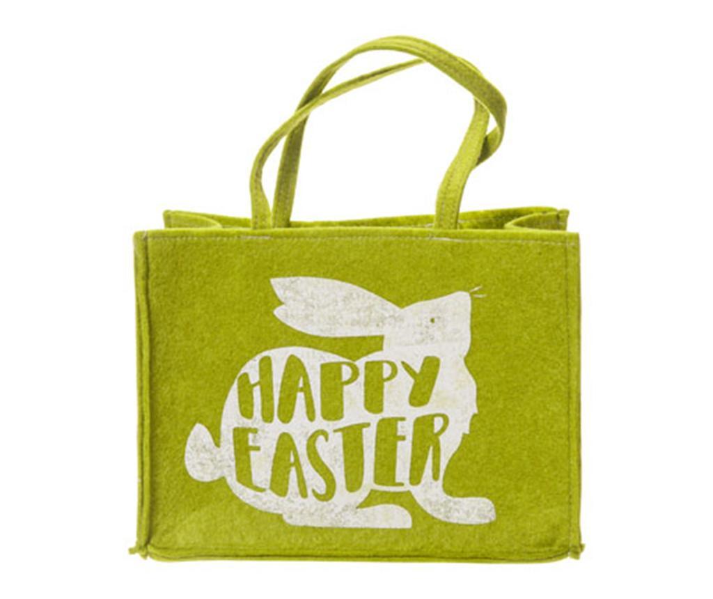 Geanta pentru cumparaturi Happy Easter Green