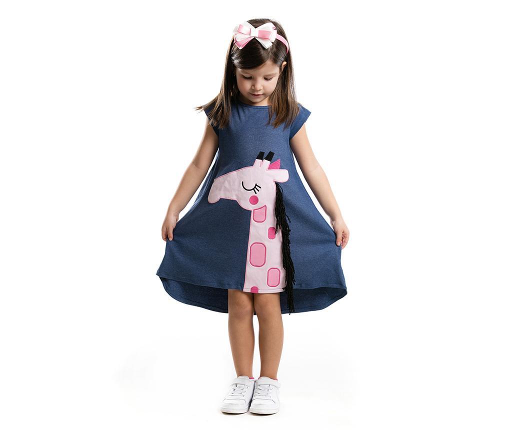 Set rochie si bentita pentru copii Pink Giraffe 6 years