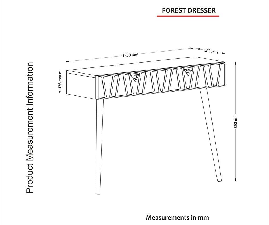 Zidna konzola Forest