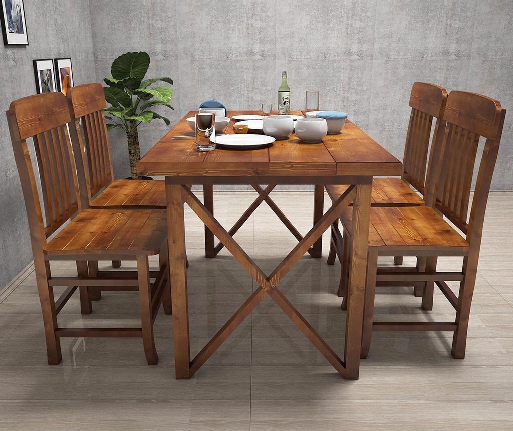 Set - miza in 4 stolov Family