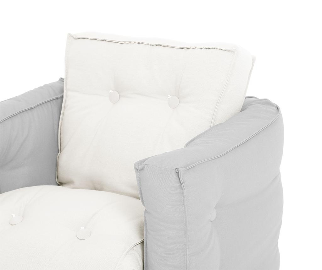Fotoliu extensibil pentru copii Mini Dice Light Grey 40x140 cm