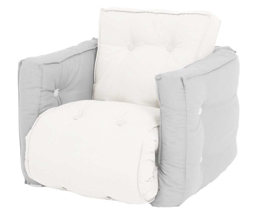 Mini Dice Light Grey Kihúzható gyerek fotel 40x140 cm