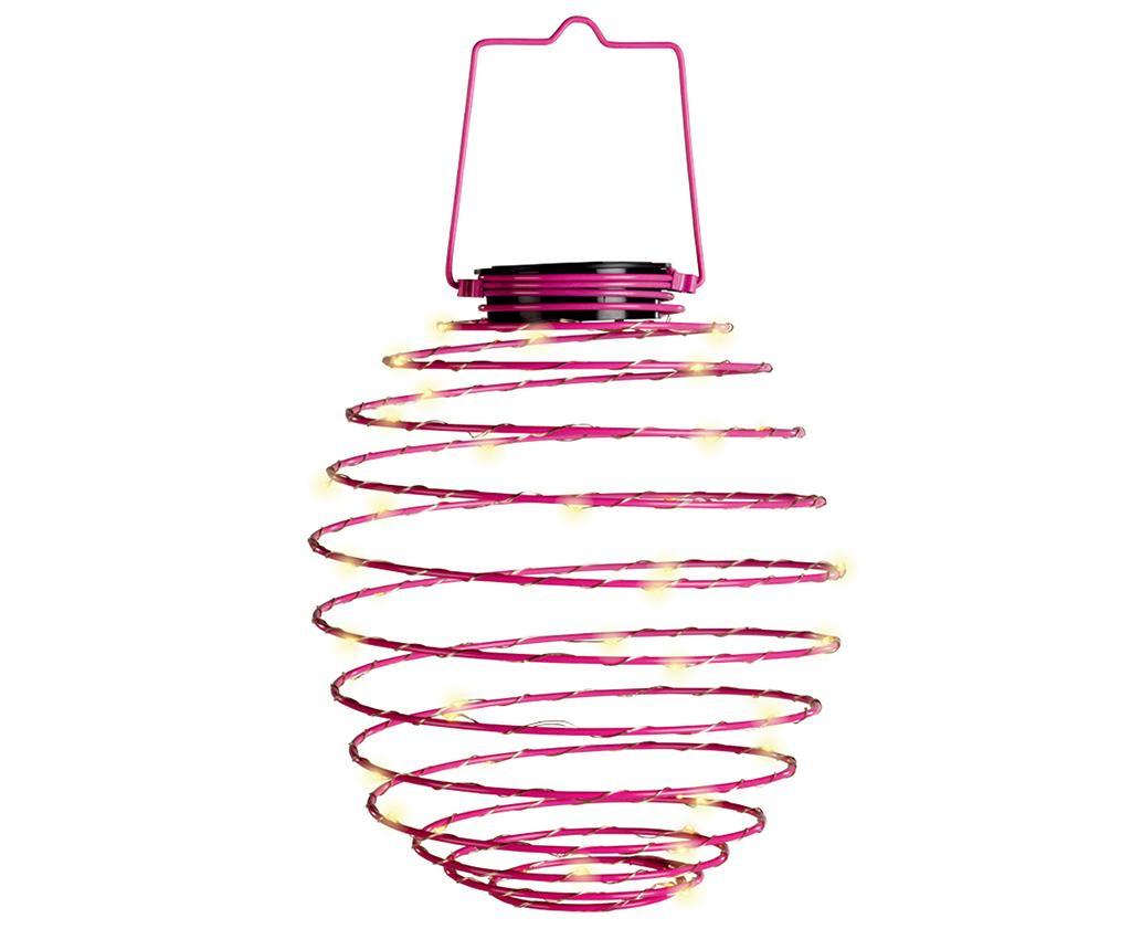 Solarna svetilka Spiral Pink