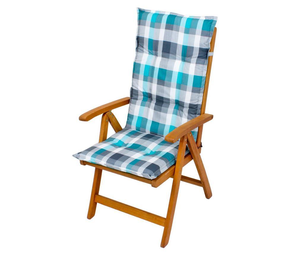 Jastuk za sjedalo i naslon Bristol Blue Grey 49x119 cm