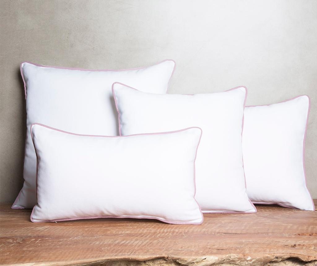 Perna decorativa Crissya White and Pink 40x60 cm