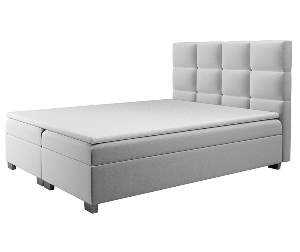 Boxspring postelja s prostorom za shranjevanje Kanada Light Grey 160x200 cm