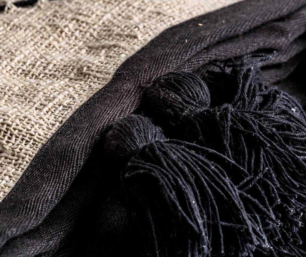 Pled Amelie Beige Black 136x240 cm