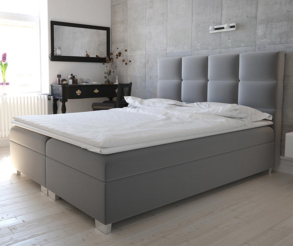 Boxspring postelja s prostorom za shranjevanje Kanada Grey 140x200 cm