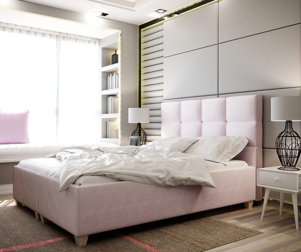 Postelja z dvižno oporo ležišča Italia Pink 180x200 cm