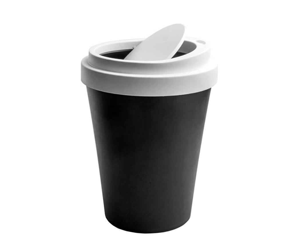 Kosz na śmieci z pokrywką Coffee Black 7.9 L