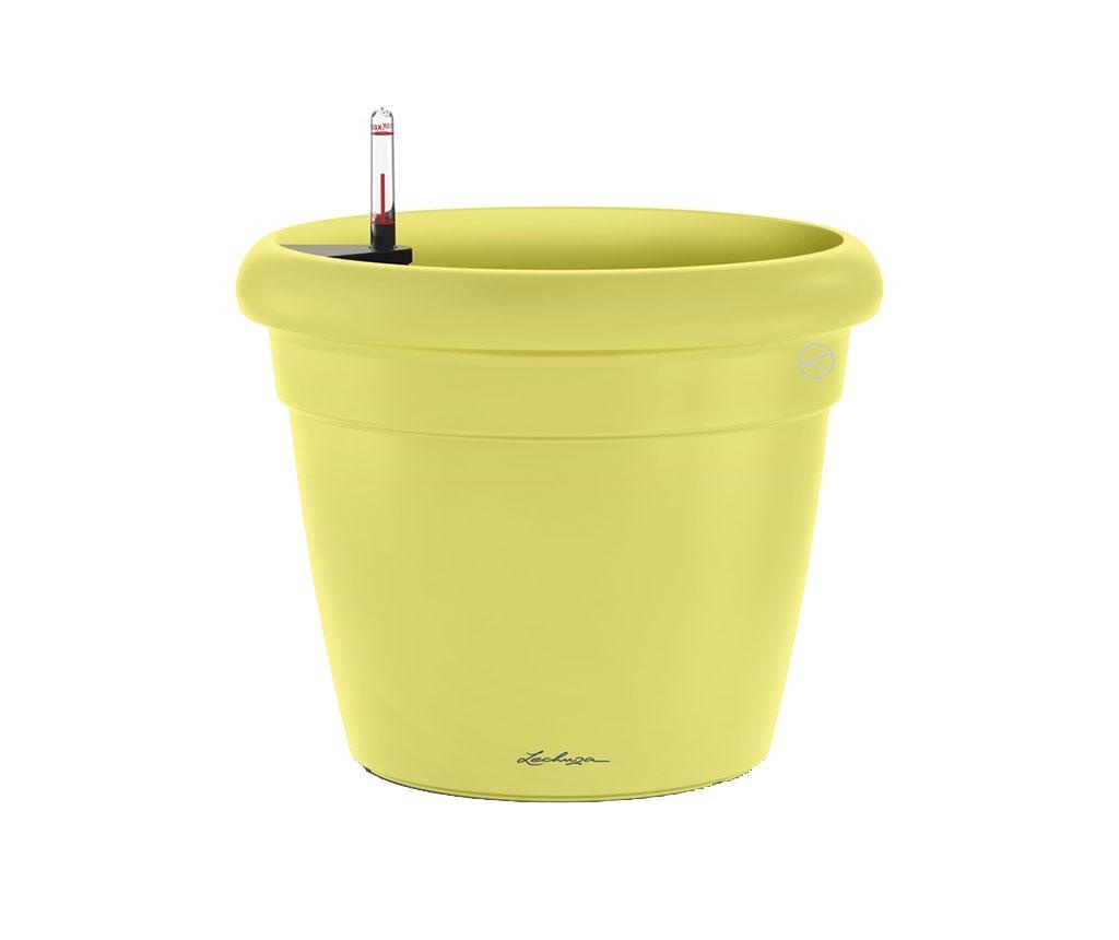 Set ghiveci cu sistem autoirigare si suport Rustico Fresh Lime S