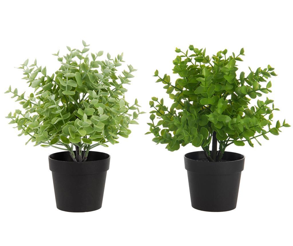 Set 2 plante artificiale in ghiveci Michigan