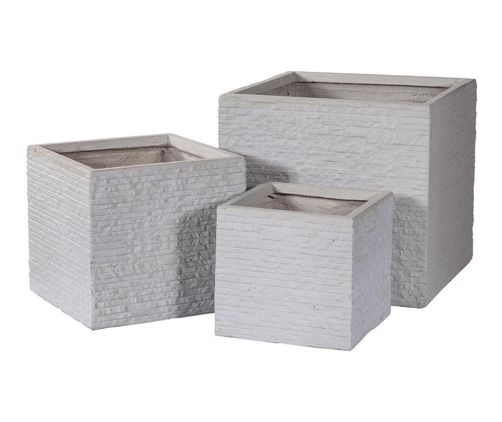 Set 3 suporturi pentru ghiveci Concrete Wall