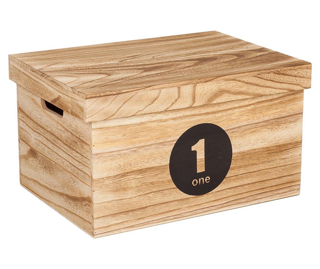 Set 3 cutii cu capac pentru depozitare Numbers