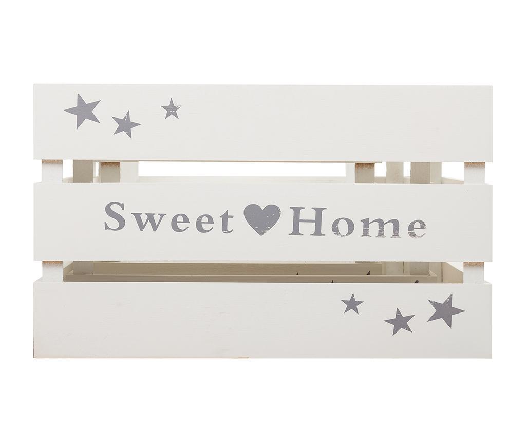 Set 3 lazi pentru depozitare Sweet Home White
