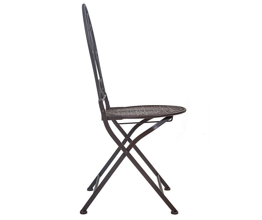 Set stol i 2 stolice za vanjski prostor Classic Pattern Black