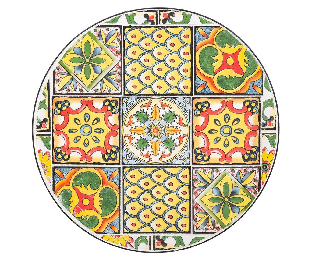 Set 2 stojal za cvetlične lonce Mosaic Tiles Multi