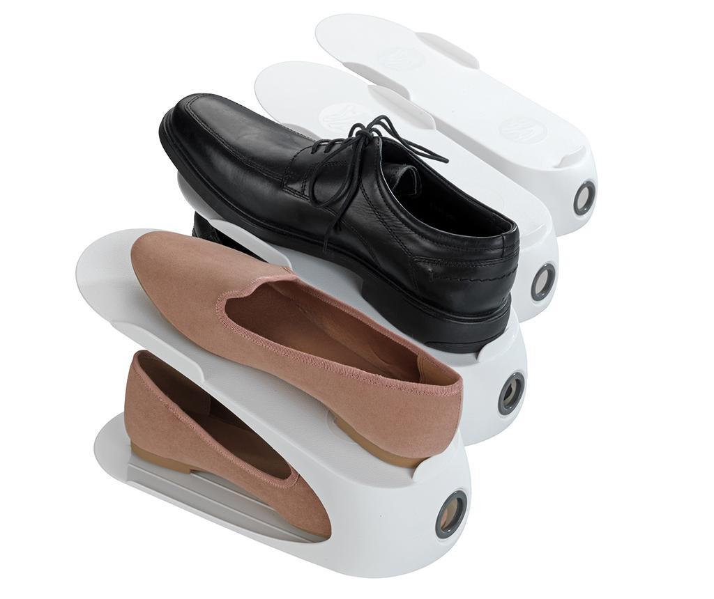 Set  4 suporturi pentru incaltaminte White Shoe