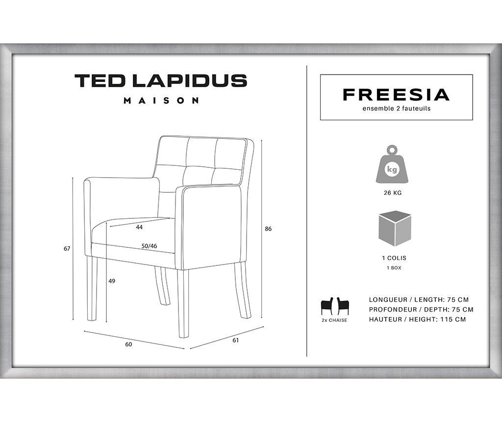 Set 2 scaune Freesia Brown & Turquoise
