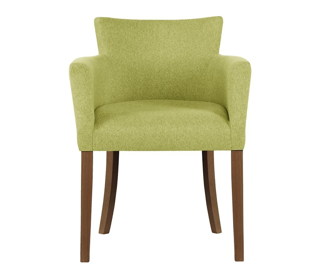 Set 4 scaune Santal Brown & Light Green
