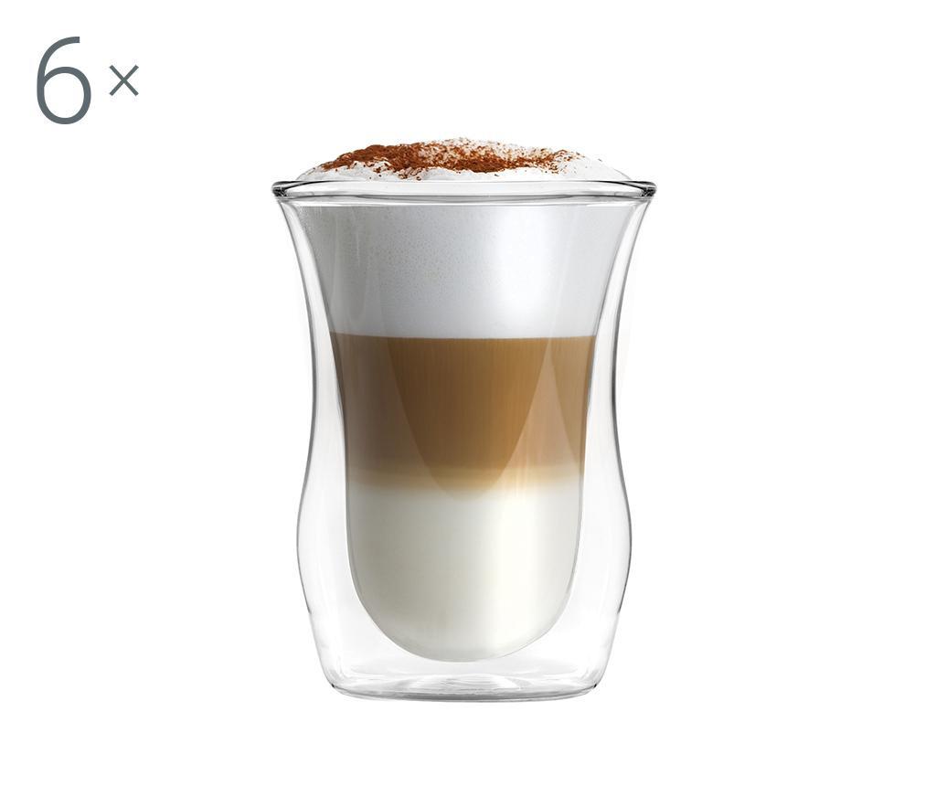 Set 6 pahare Short Cappuccino 300 ml