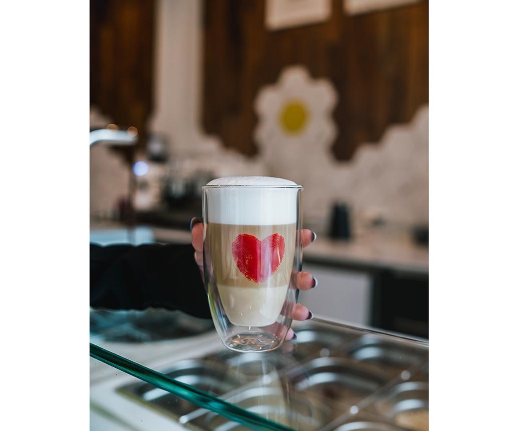 Set 2 pahare Cappuccino 350 ml