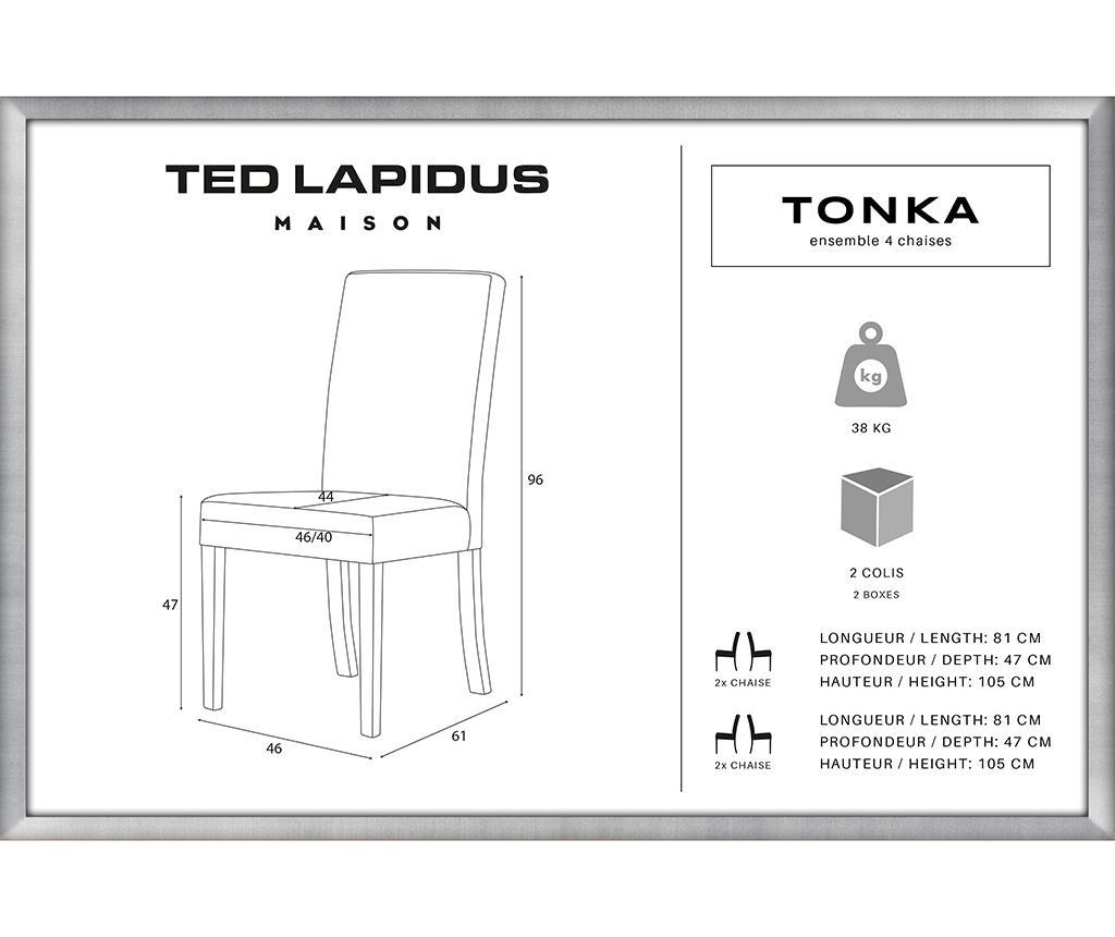 Set 4 scaune Tonka Brown & Dark Taupe