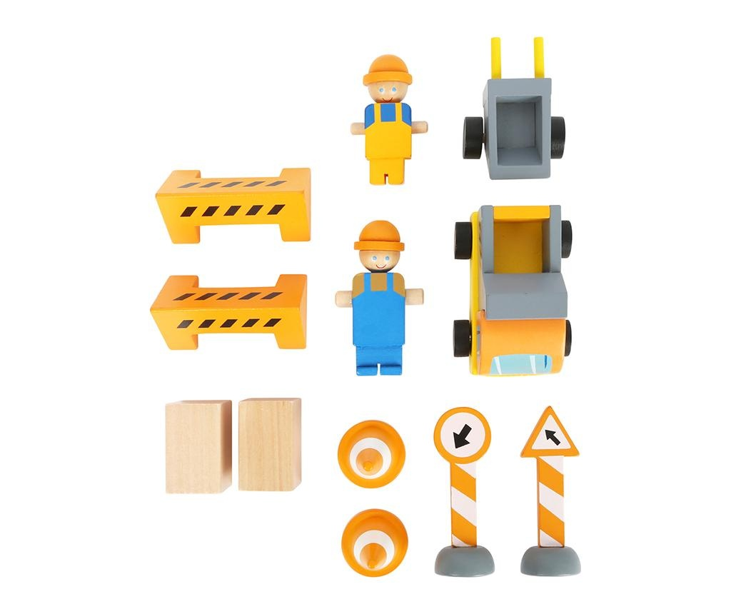 Set de constructie 14 piese Crane On Site
