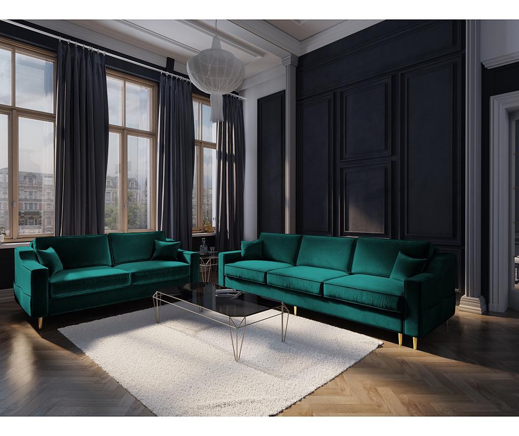 Kauč trosjed na razvlačenje Marigold Bottle Green