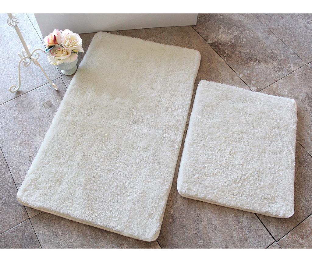 Zestaw 2 dywaników łazienkowych Manilla Cream
