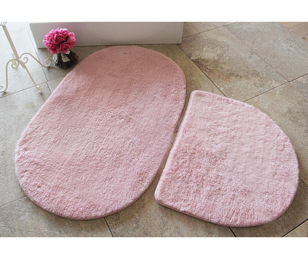 Manilla Round Light Pink 2 db Fürdőszobai szőnyeg