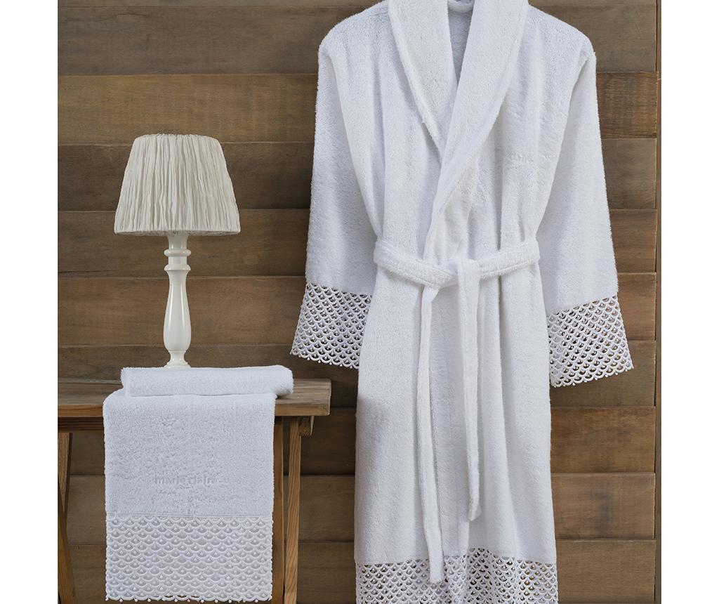 Ronda White Női fürdőköpeny és törölköző S/M