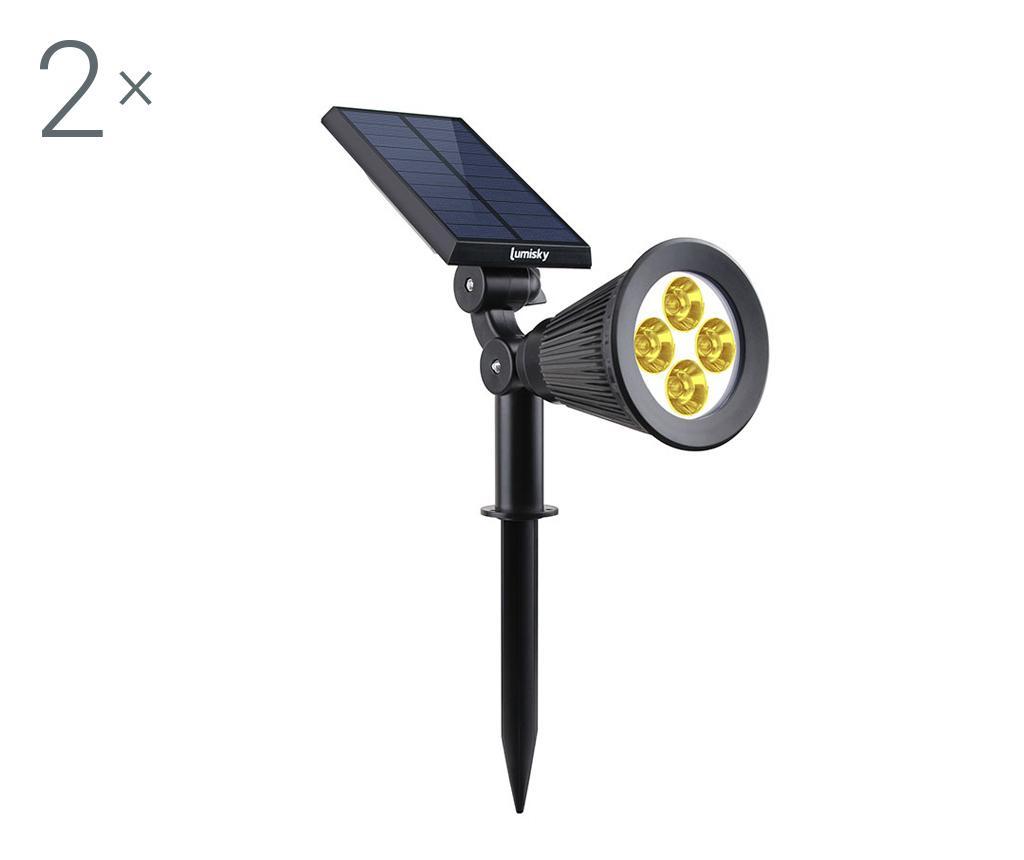 Set 2 lampi solare Spiky Warm