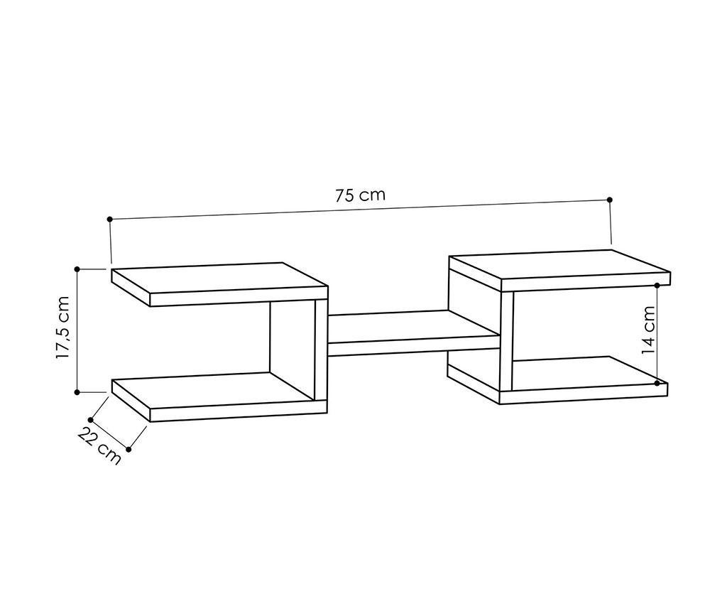 Set 2 rafturi de perete Generation Anthracite
