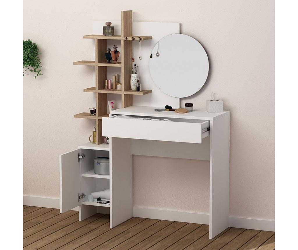 Toaletni stolić Pretty White Oak