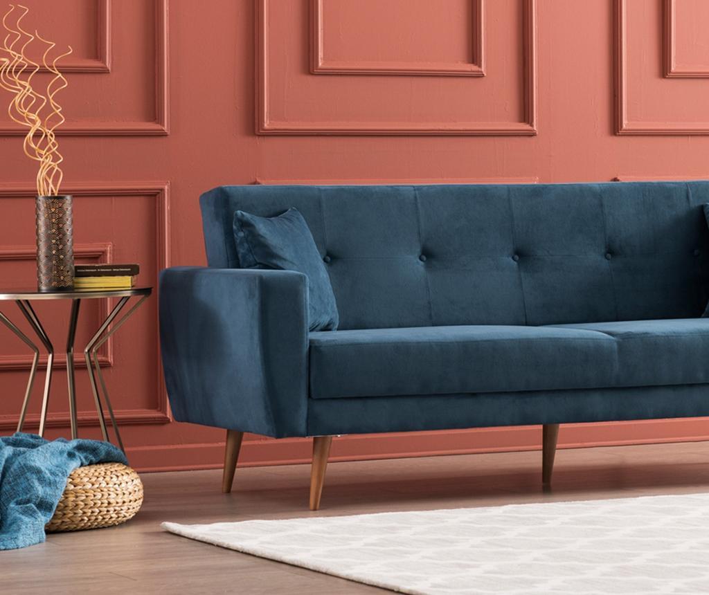 Canapea extensibila cu 3 locuri Vivalde Sax Blue
