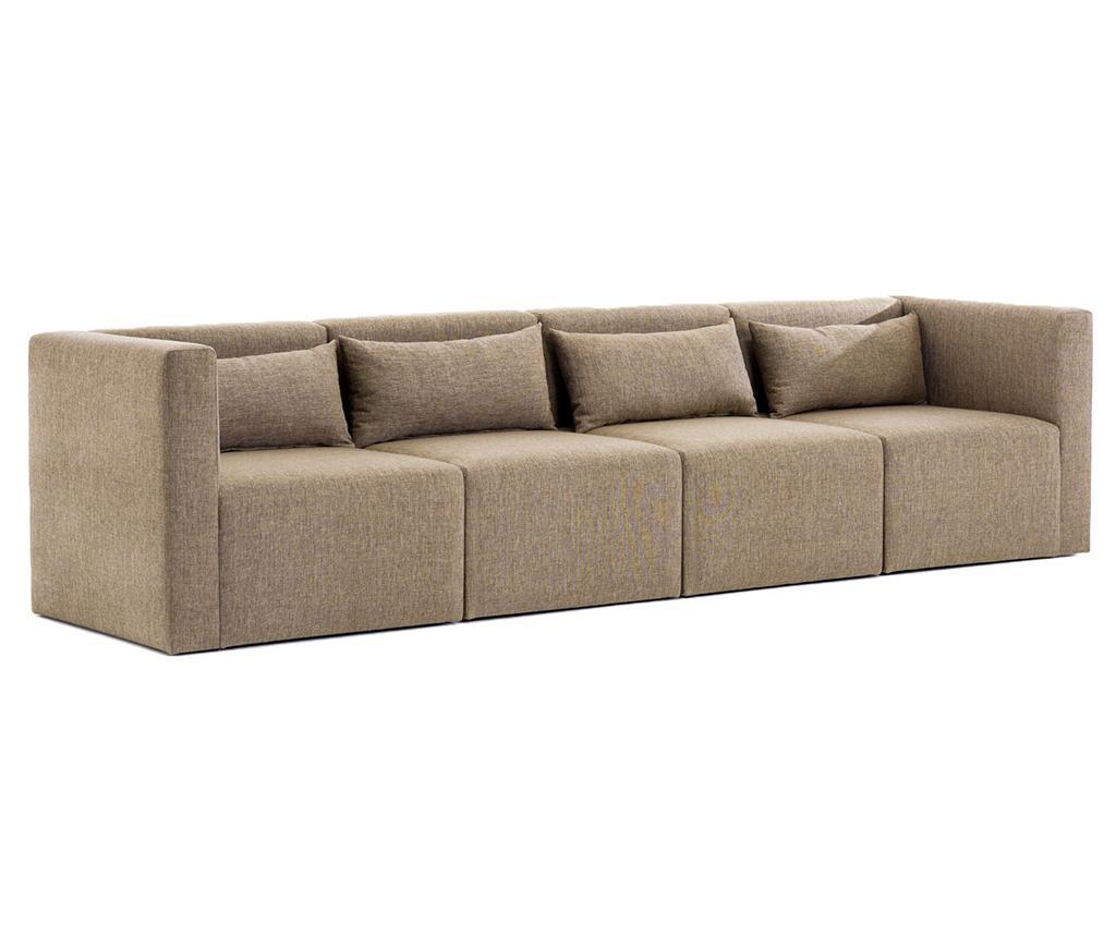 Modułowa kanapa 4-osobowa Plus Brown