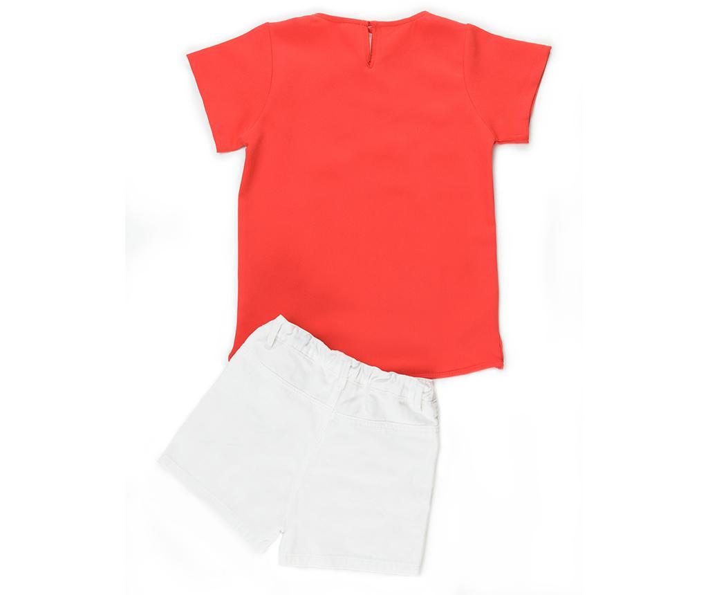 Set tricou si pantaloni scurti copii Coral 4 ani
