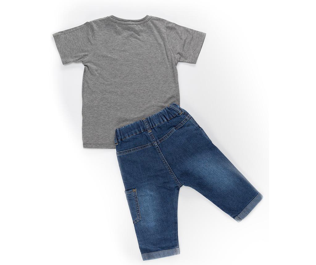 Set tricou si pantaloni copii Cool Pirates 8 ani