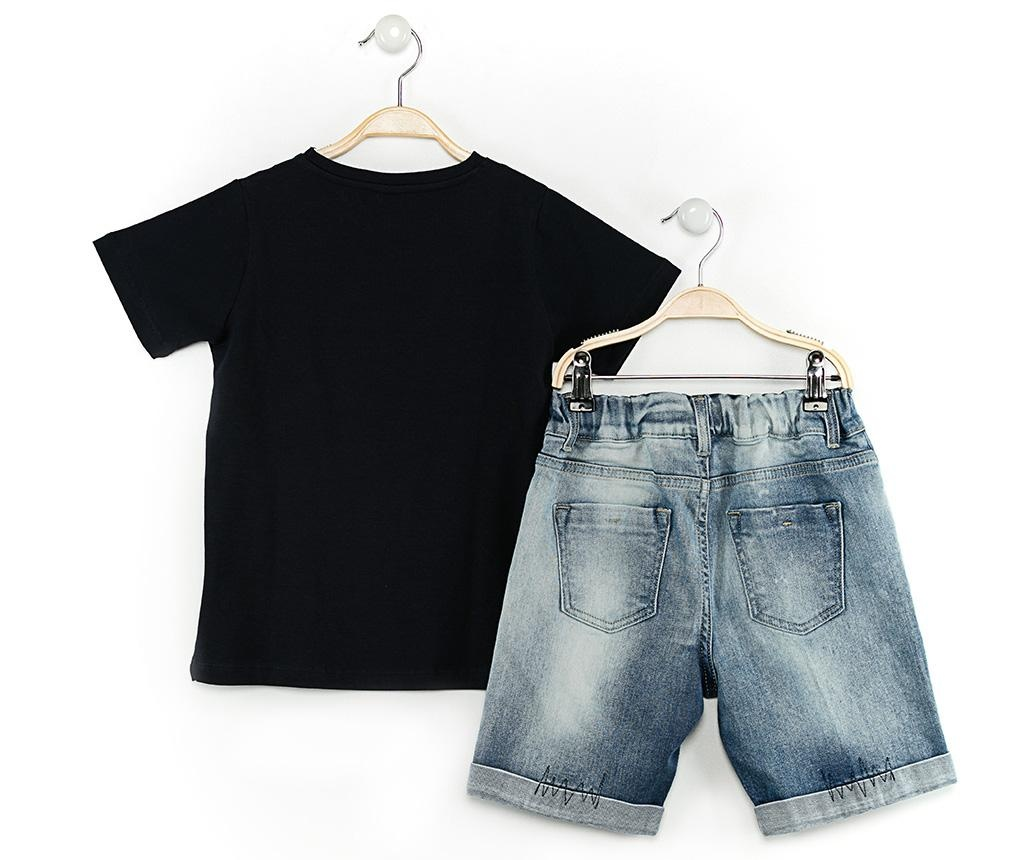 Set tricou si pantaloni scurti copii Pirates Jean 3 ani