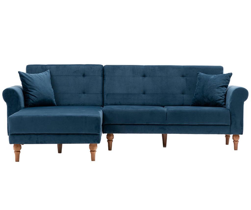 Разтегателен ляв ъглов диван Madona Sax Blue