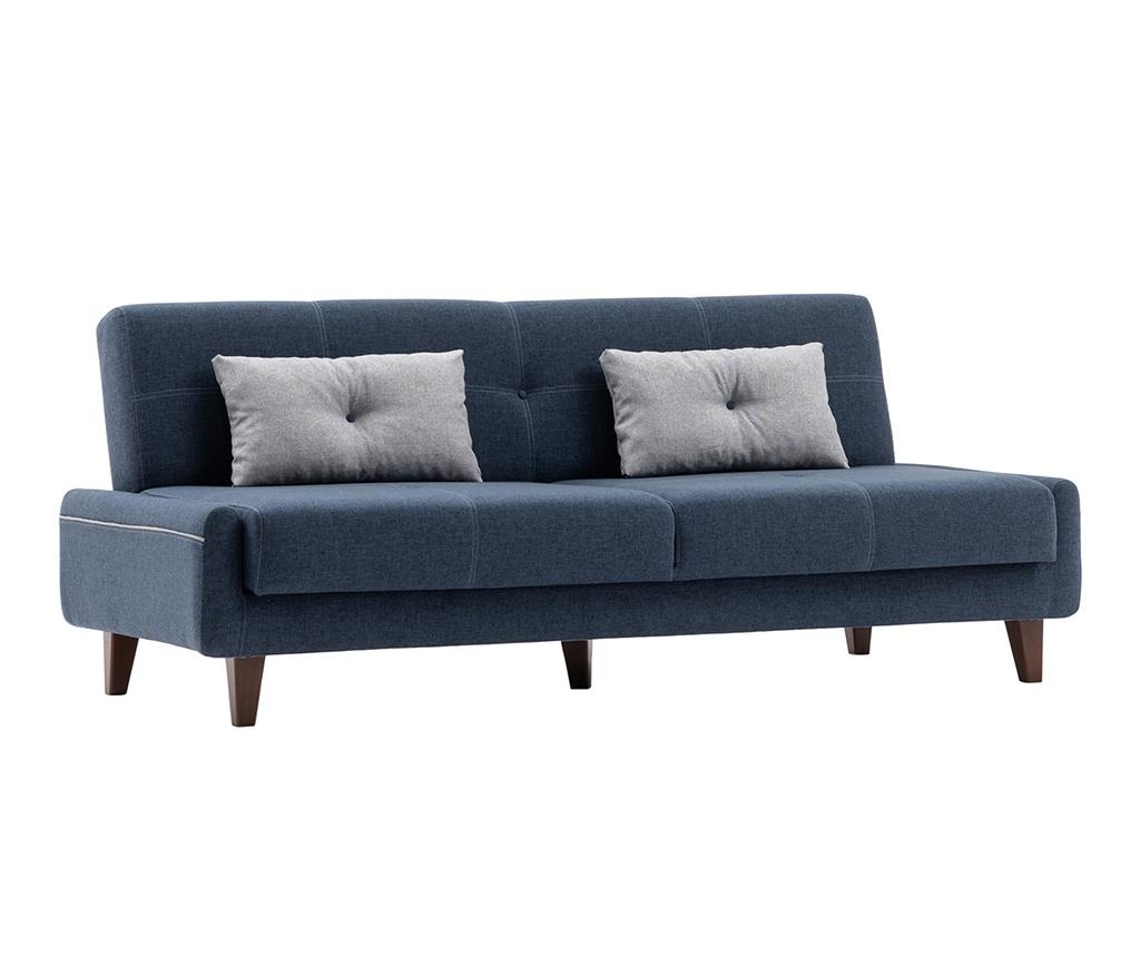 Canapea extensibila 3 locuri Kanavel Dark Blue