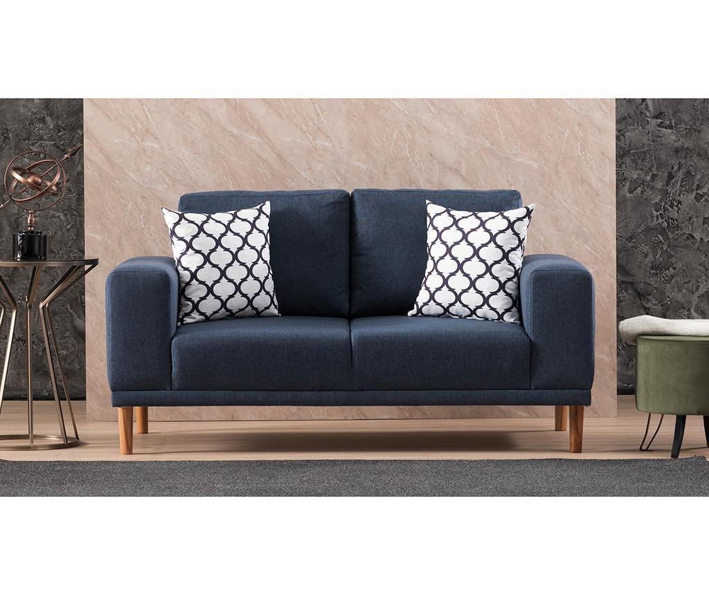 Canapea 2 locuri Franz Dark Blue