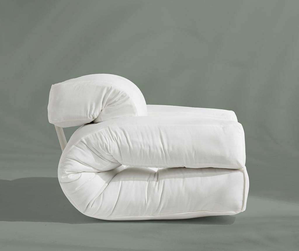 Rozkładany fotel zewnętrzny Hippo Out White 90x200 cm