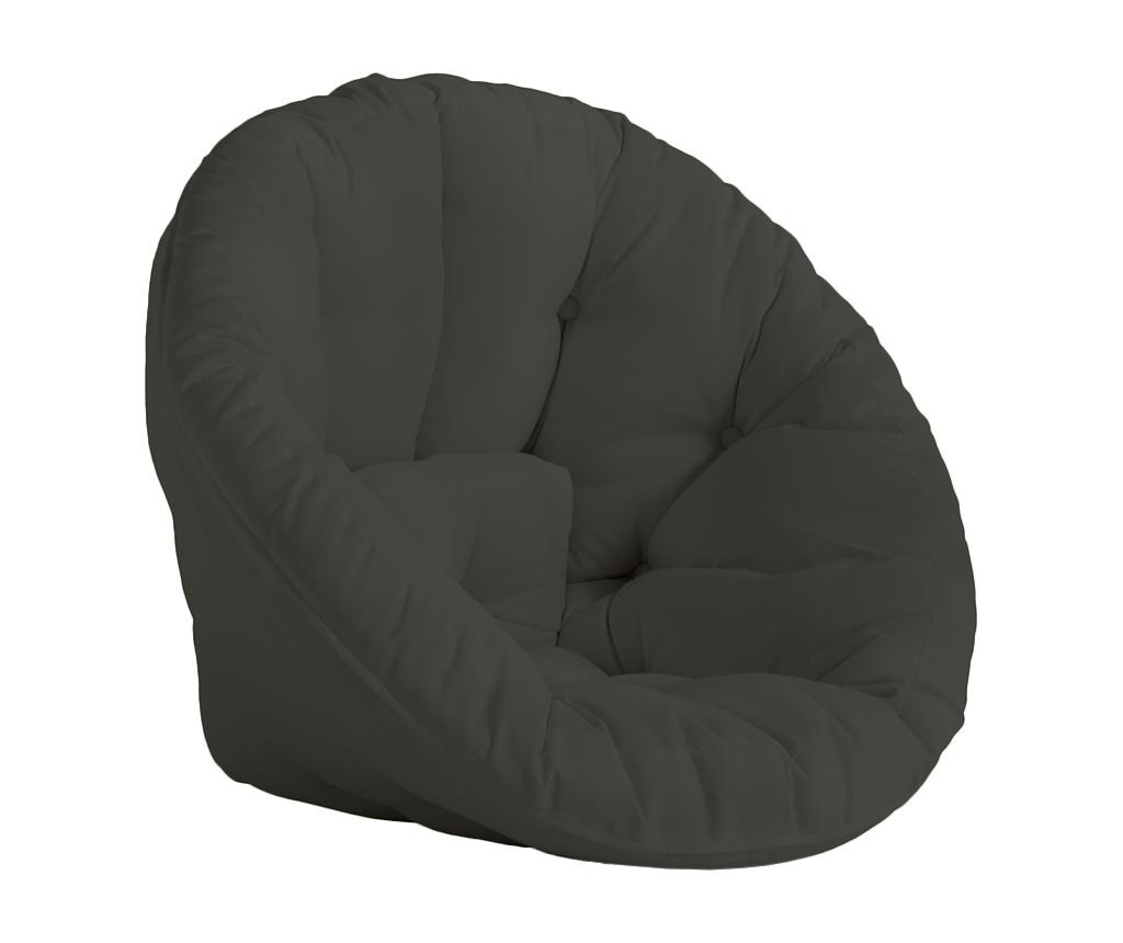 Zewnętrzny fotel typu gniazdo Nido Out Dark Grey