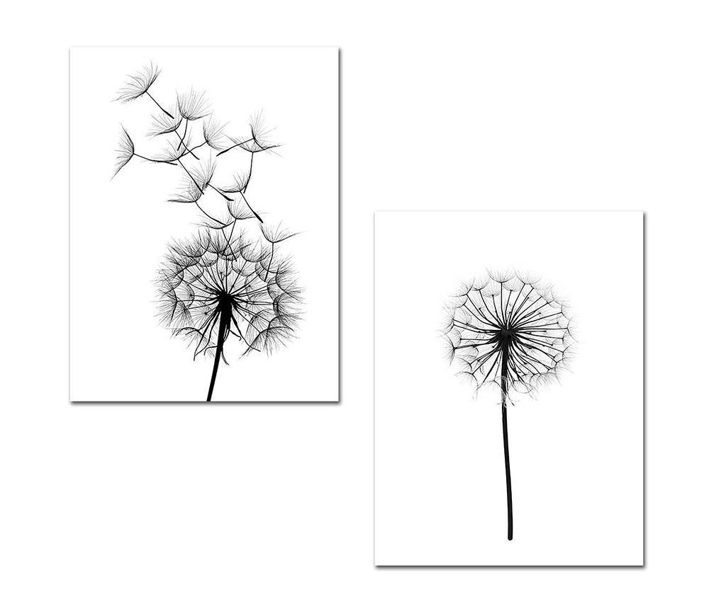 Black Dandelions 2 db Kép 30x40 cm