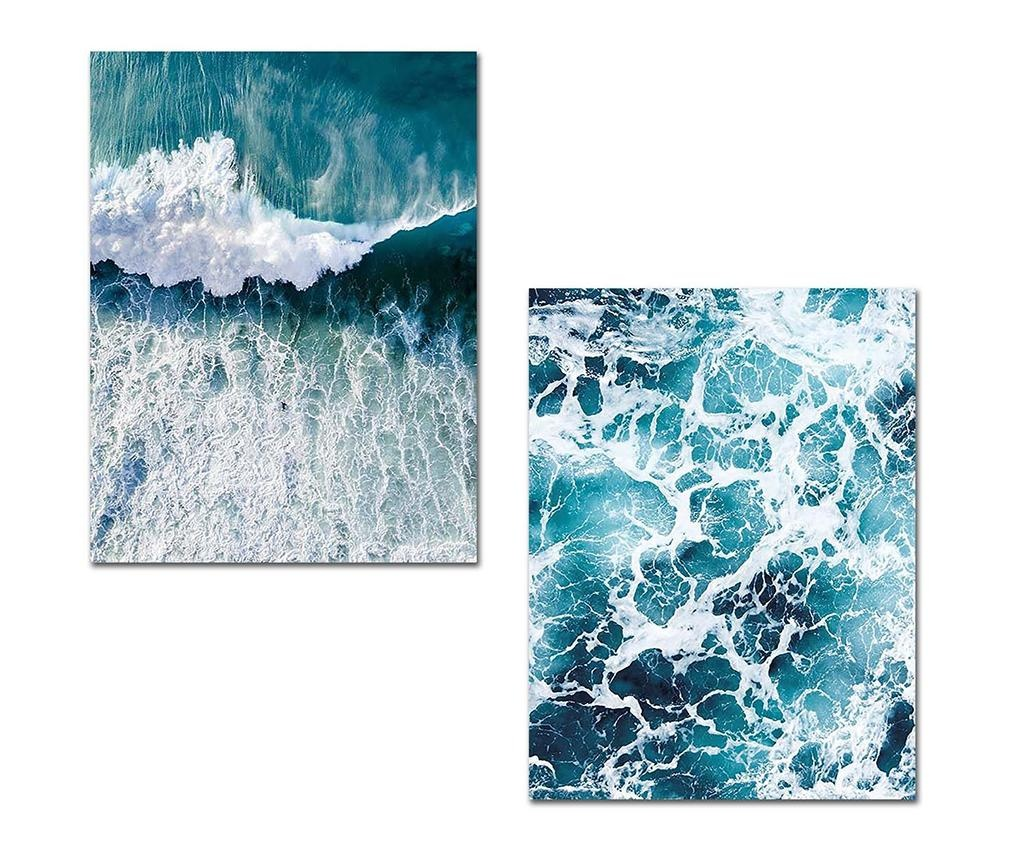 Waves 2 db Kép 30x40 cm