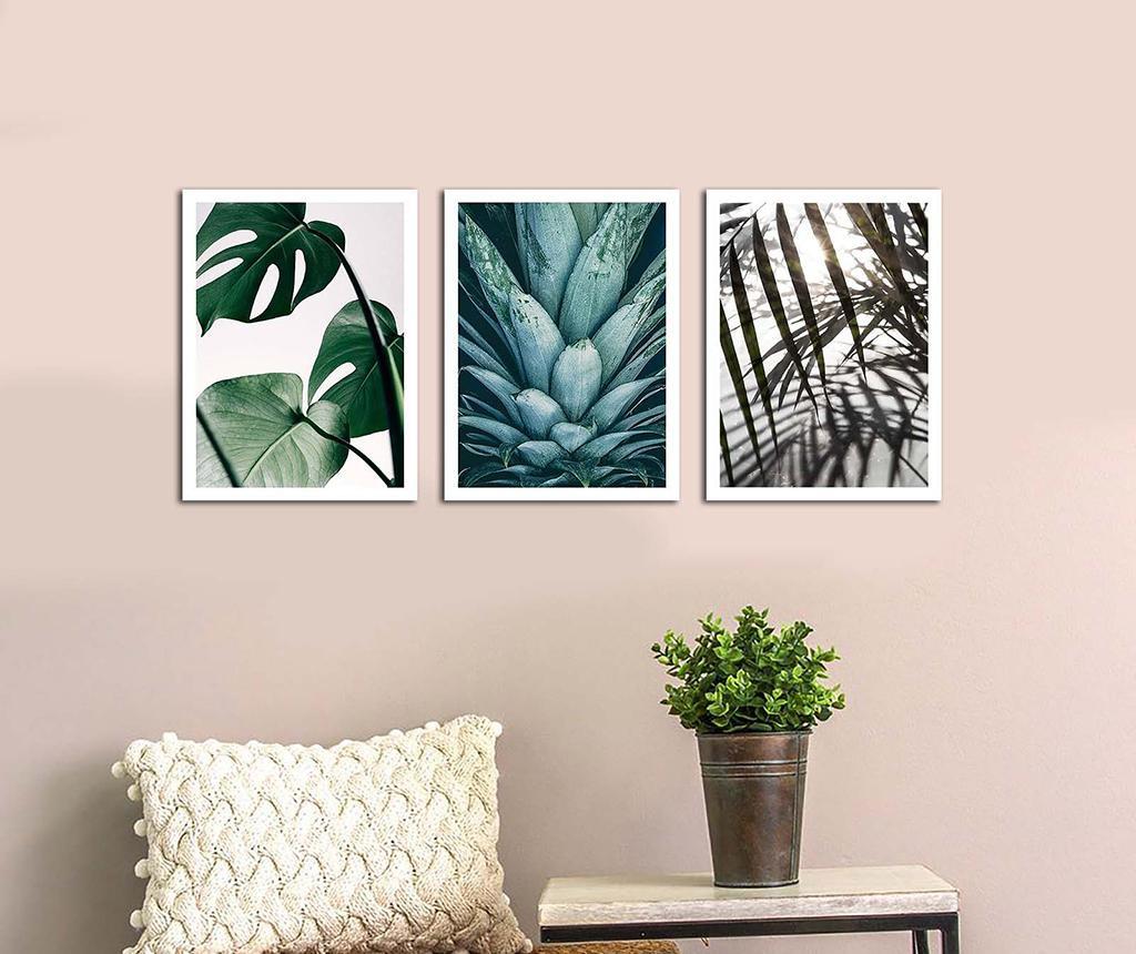 Комплект 3 картини Palms 30x40 см