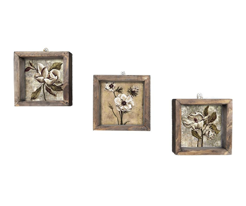 Set 3 slike Three 15x15 cm