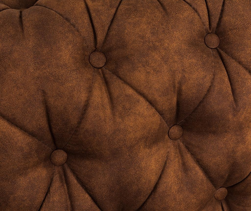 Canapea 4 locuri Chesterfield Vintage Cognac